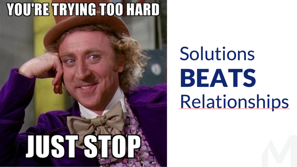 Customer Centric Selling Solutions VS relations