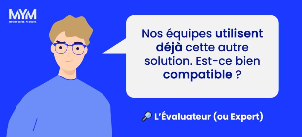 Rôle décisionnaire vente B2B - Evaluateur
