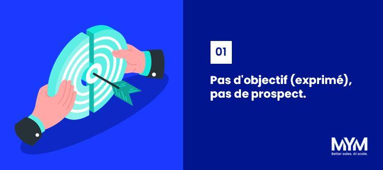 Commercial performant et intègre - Loi n°01 : Pas d'objectif, pas de prospect